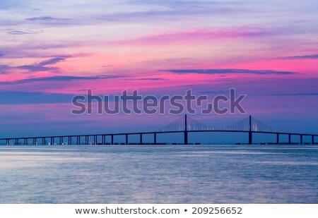 silhouette · ponte · sospeso · all'alba · San · Francisco · cielo - foto d'archivio © backyardproductions