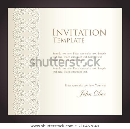 Luxus cremig Einladung Nachahmung Spitze exklusiv Stock foto © liliwhite