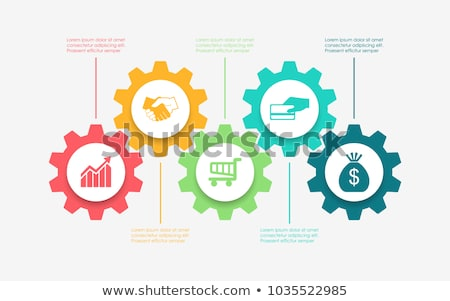 Stock photo: Five Gears