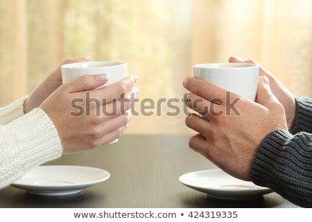 Klant handen winter voorraad foto Stockfoto © nalinratphi