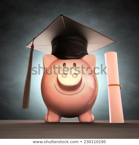 oszczędność · kolegium · banku · piggy · książek · puszka - zdjęcia stock © idesign