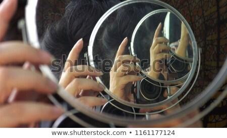 Surrealista fotógrafo ilustración largo lente agua Foto stock © paulfleet