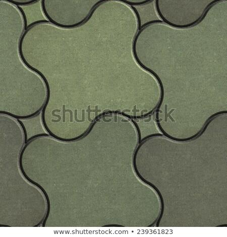 Marsh Color Paving Stone as Quatrefoil. Stock photo © tashatuvango