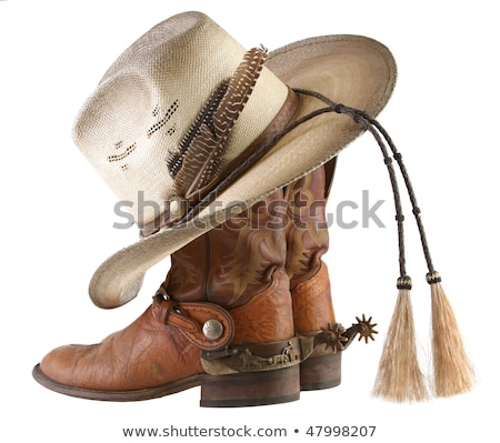 Image of Cowboy hat and boots Stock photo © Vg