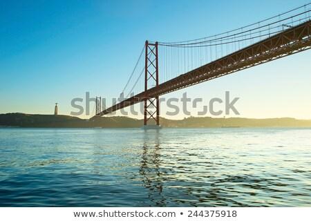 川 · 橋 · 25 · リスボン · ポルトガル · ヨット - ストックフォト © neirfy