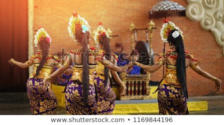 Indonéz tánc illusztráció hagyományos nő sziluett Stock fotó © adrenalina