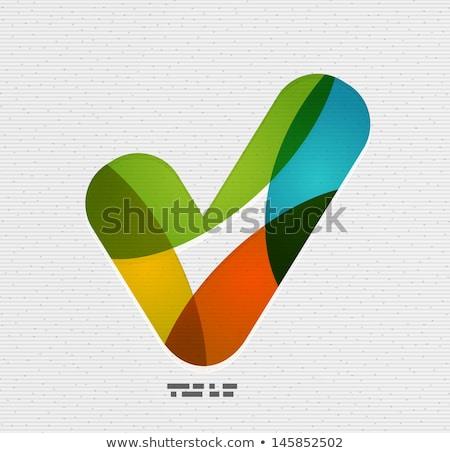 Abstract groene papier controleren vector Stockfoto © tuulijumala