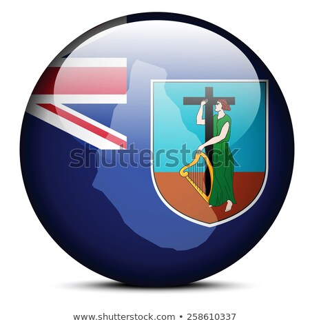 map on flag button of crown colony montserrat stock photo © istanbul2009