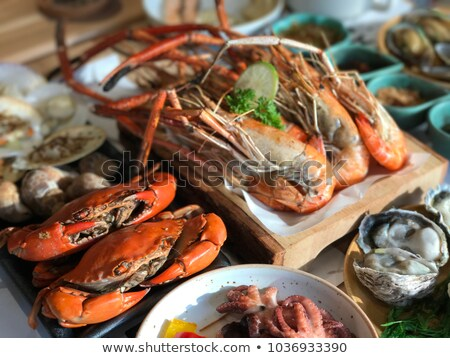 Seafood. Lobster, crab and prawn Stock photo © ulyankin