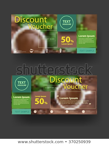 Blank Discount Vintage Price Tag Label and Coffee Beans Stock photo © stevanovicigor