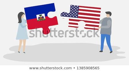 USA Haiti bandiere puzzle vettore immagine Foto d'archivio © Istanbul2009