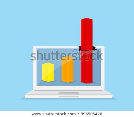 Lemez profit fényes arany fény 3D Stock fotó © 3mc
