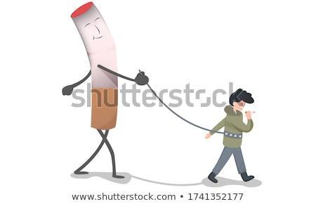 никотин зависимость женщину стороны бездомным Сток-фото © ocskaymark