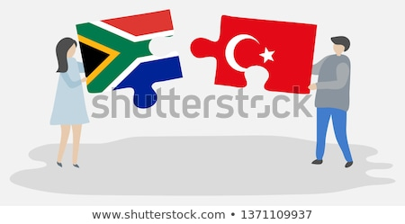 South Africa and Turkey Flags in puzzle Stock photo © Istanbul2009