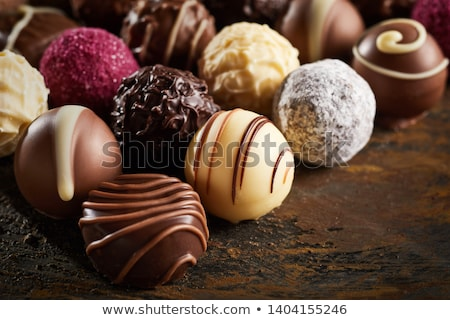 assorted decorated luxury chocolate bonbons Stock photo © peter_zijlstra