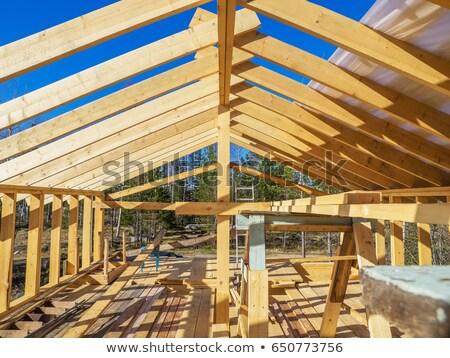 New wooden house Stock photo © saransk
