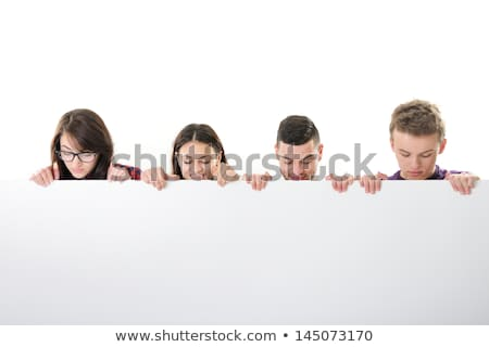 long beard business man looking down stock photo © feedough