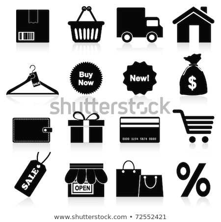 Sign with shopping bag and secure shopping Stock photo © Ustofre9