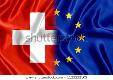 European Union and Switzerland Flags Stock photo © Istanbul2009