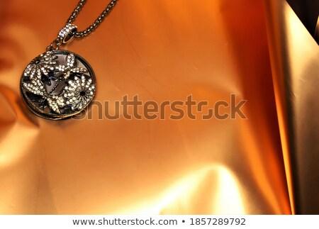 Golden  pendant over white Stock photo © vtls