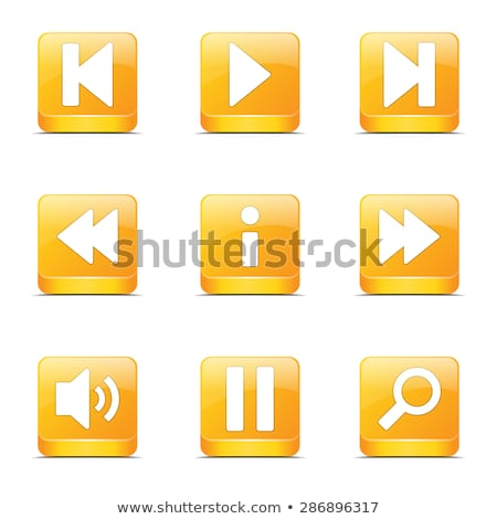 Multimedia Controller Square Vector Yellow Icon Design Set Stock photo © rizwanali3d