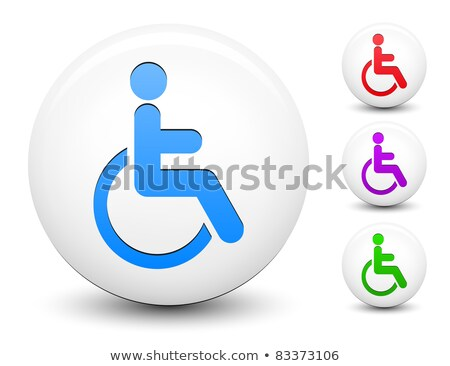 Hospital Health Violet Vector Button Icon Design Set Stock photo © rizwanali3d