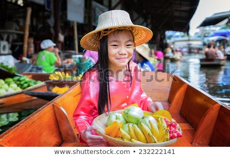 Mujer tailandés cultura aislado blanco Foto stock © compuinfoto