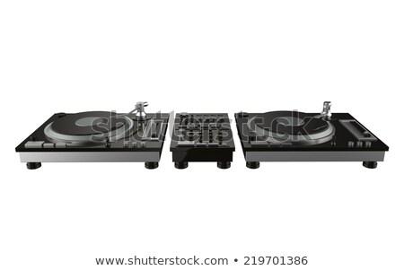 Eenvoudige draaitafel geïsoleerd witte analoog muziekspeler Stockfoto © Kayco
