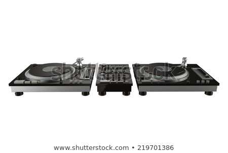 Simple Turntable Isolated on White Background Stock photo © Kayco