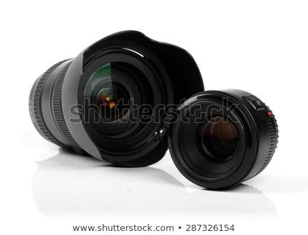 two camera lenses stock photo © vtls