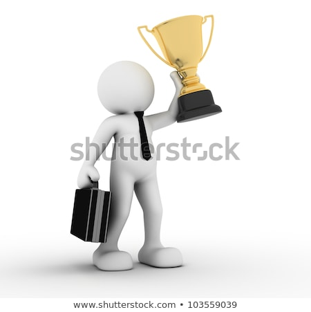 3d man holding golden award cup concept Stock photo © nithin_abraham