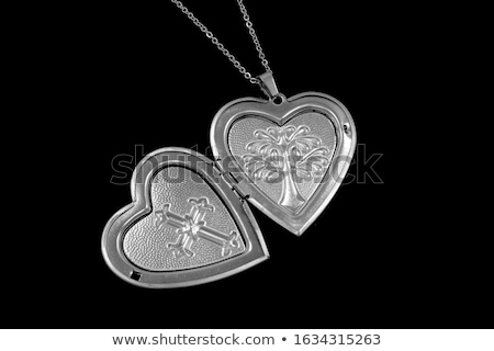 Stock photo: Heart Necklace with stones