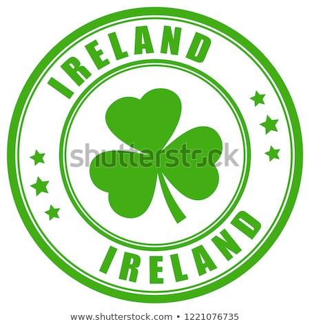 Ierland land vlag kaart vorm tekst Stockfoto © tony4urban