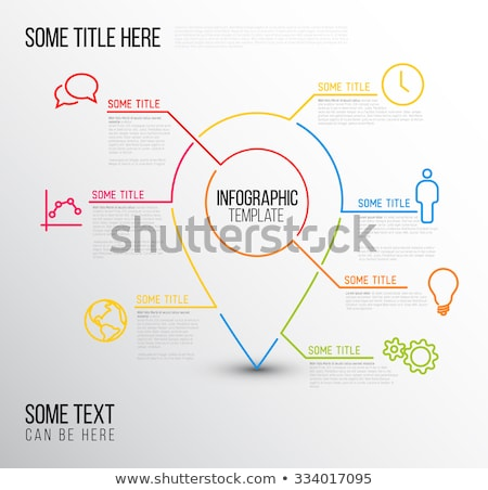 Vector Infographic report location template made from lines and icons Stock photo © orson