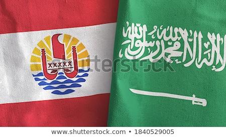 Szaúd-Arábia francia Polinézia zászlók puzzle izolált Stock fotó © Istanbul2009