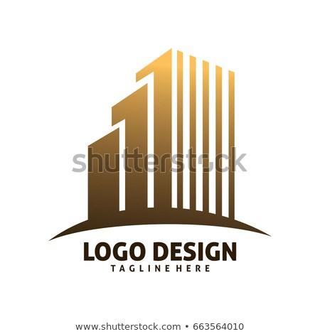 建物 ベクトル アイコン デザイン 金 ストックフォト © rizwanali3d