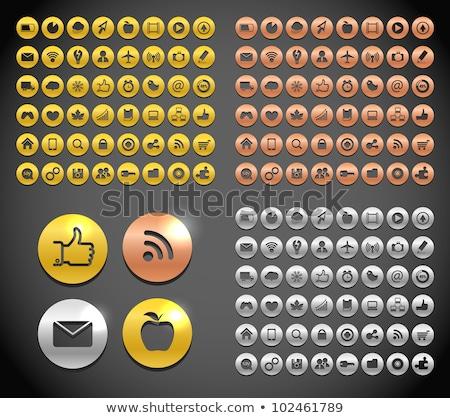Talk golden Vector Icon Design Stock photo © rizwanali3d