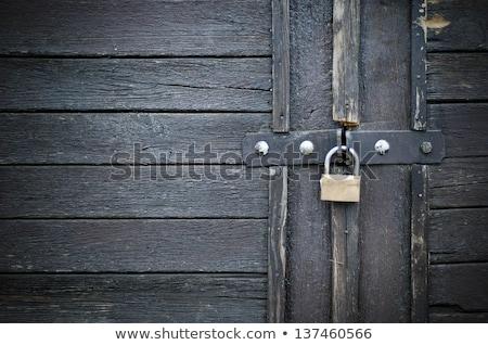 古い · さびた · 南京錠 · 木製 · テクスチャ · 木材 - ストックフォト © mikko