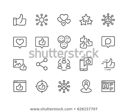 Stock fotó: Globális · kommunikáció · vonal · ikon · földgömb · headset · háló