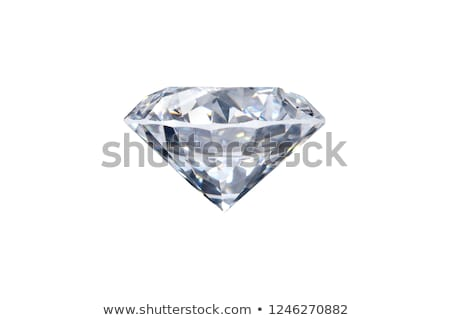 Side view of round diamond with isolated  Stock photo © Arsgera