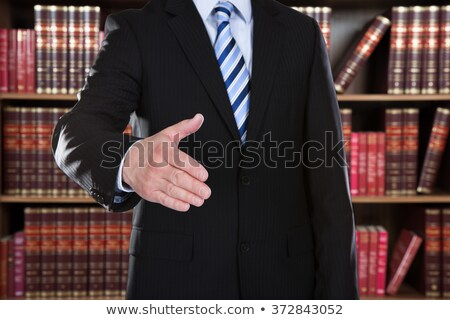 Midsection Of Attorney Offering Handshake Stock photo © AndreyPopov