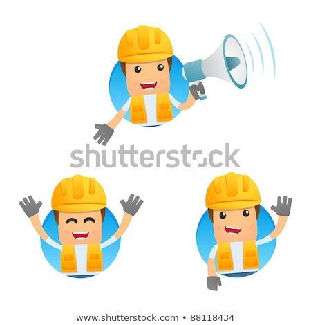set of a speaking cartoon builders stock photo © voysla