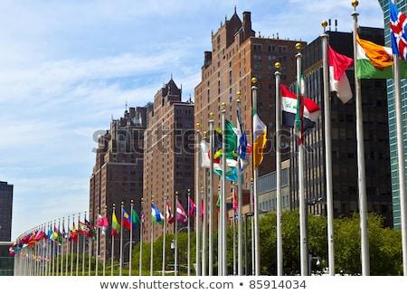 フラグ 国連 ニューヨーク アメリカ 雲 建物 ストックフォト © meinzahn