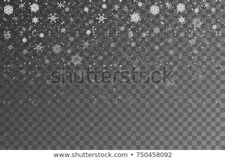 Karácsony hópelyhek eps 10 vektor akta Stock fotó © beholdereye