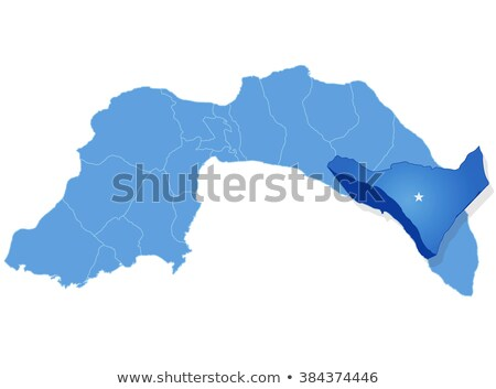 Stok fotoğraf: Harita · dışarı · idari · bölge · yol · star