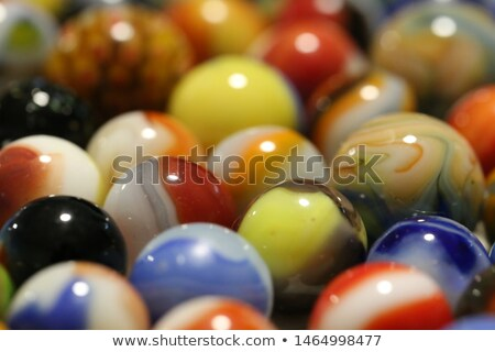 Concept with red and green marbles -  Leader Stock photo © Zerbor