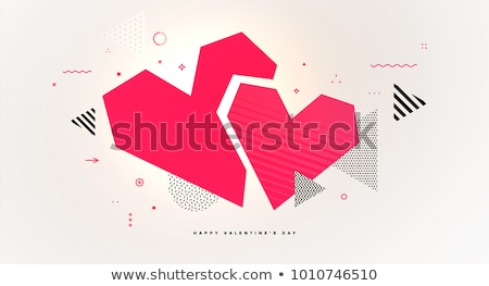 Abstract Heart Geometric Design Stock photo © lenm