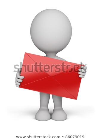 3d small people - envelope stock photo © AnatolyM