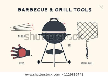 barbecue grill drawn stock photo © m_pavlov