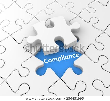 Puzzle with word Audit Stock photo © fuzzbones0